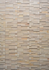 pattern of white modern brick wall surfaced