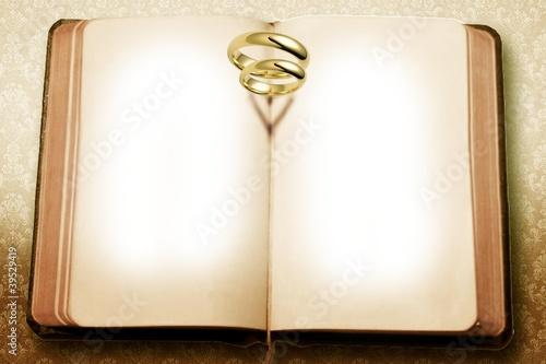 Karte Hochzeit Hochzeitstag - Aufgeschlagenes Buch
