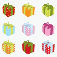 Set of gift box. Vector illustration eps.10.