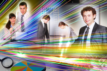 Collage of business persons