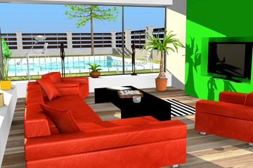 3d render of modern house architecture