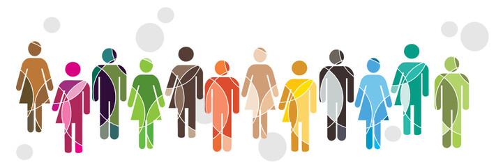 Human diversity concept Fotoväggar