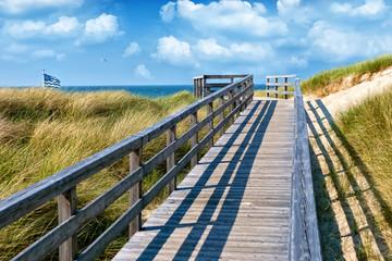 Fototapete - Weg zum Strand