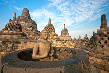 Printed kitchen splashbacks Indonesia Borobudur Temple, Yogyakarta, Java, Indonesia.