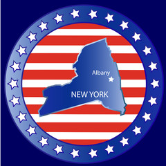 New York state seal stamp usa