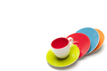 cup and saucers, colors