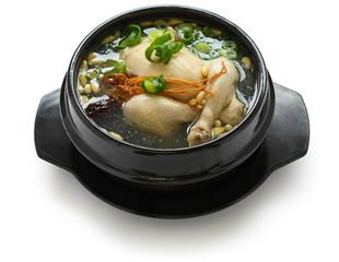 samgyetang, chicken soup with ginseng, korean food