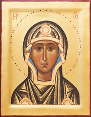 Religious Orthodox icon of The God mother