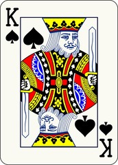King of Spades - vector illustration of a poker playing card