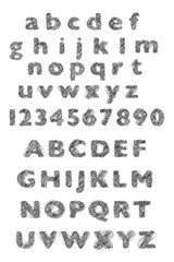 alphabet gribouillé