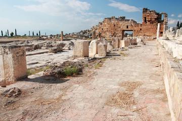 Ancient Hierapolis-Pamukkale. Turkey.
