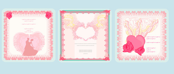 Valentines day. Vector cards set