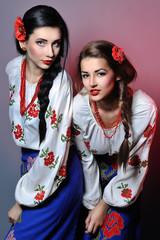 Studio portrait of the nice young Ukrainian girl