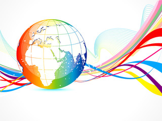 abstract colorful globe background