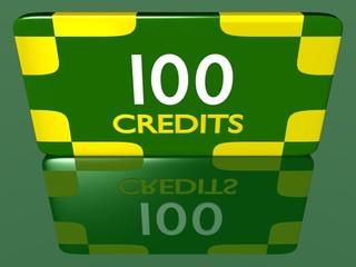 Plaque 100 crédits 1.01