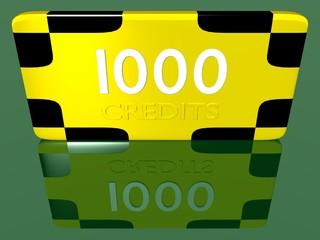 Plaque 1000 crédits 1.01