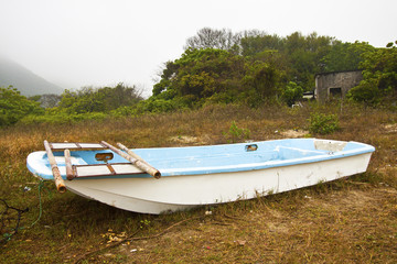 Single boat on the ground