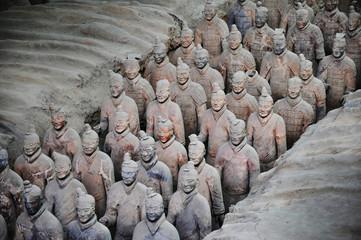 Poster de jardin Xian Armée de terracotta à Xian - China