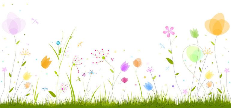 frise florale