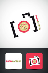 Camera Icon, Food photography concept vector template