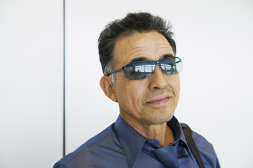 Portrait of man with sunglasses on