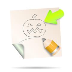 post it - halloween