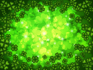Shamrock Four Leaf Clover Background