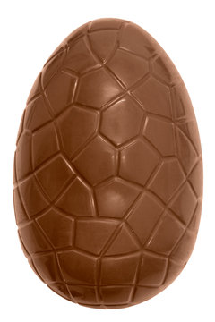 Chocolate easter egg isolated