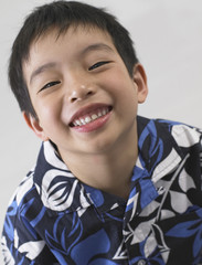Portrait of young boy smiling