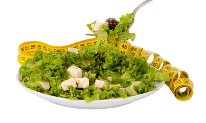 salad with feta cheese and olives and lettuce