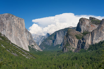 Landscape with mountains in Yosemite