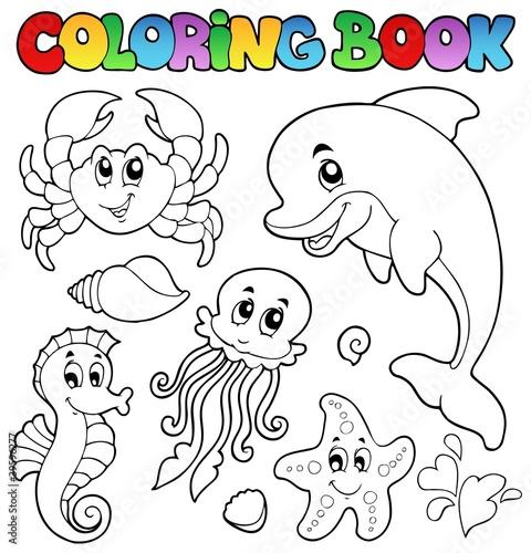 Coloring book various sea animals 2\