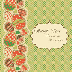 Easter greeting card with seamless border