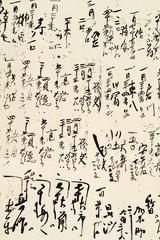 Hieroglyphs on rice paper.