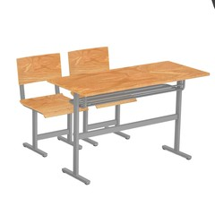 3d render of school furniture