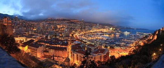 Monaco .night panorama
