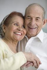 Portrait of elderly couple smiling