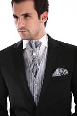 Handsome man in tuxedo