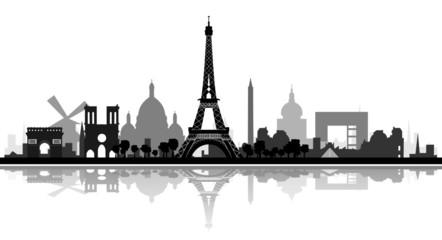 Skyline Paris detailliert
