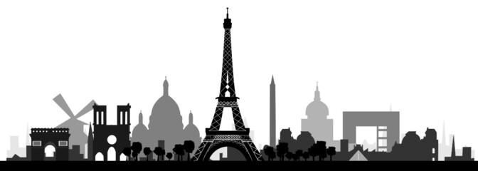 Paris Skyline detailliert