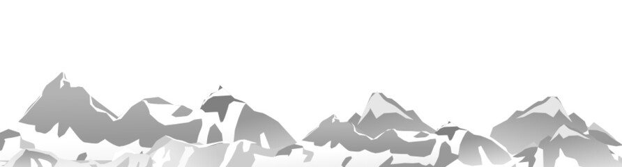 Bergkette vektor abstrakt