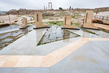 historical area on antique citadel in Amman