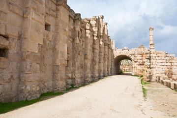 the Large South Theatre - in antique town Jerash, Jordan
