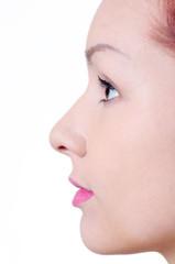 Beauty face in profile