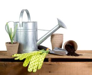 Assorted gardening tools