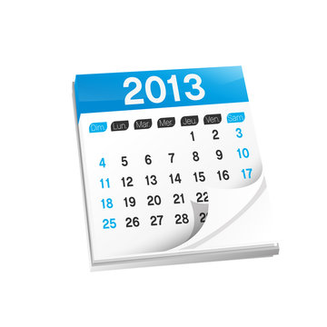 vecteur, calendrier/agenda 2013