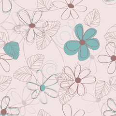 Acrylic Prints Abstract Floral flower backdrop