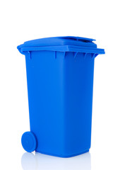 Blue plastic roll container