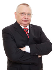 Senior businessman in black suit