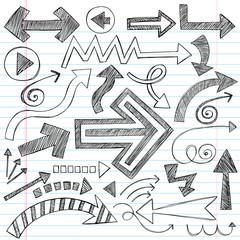 Arrows Sketchy Notebook Doodles Vector Design Elements
